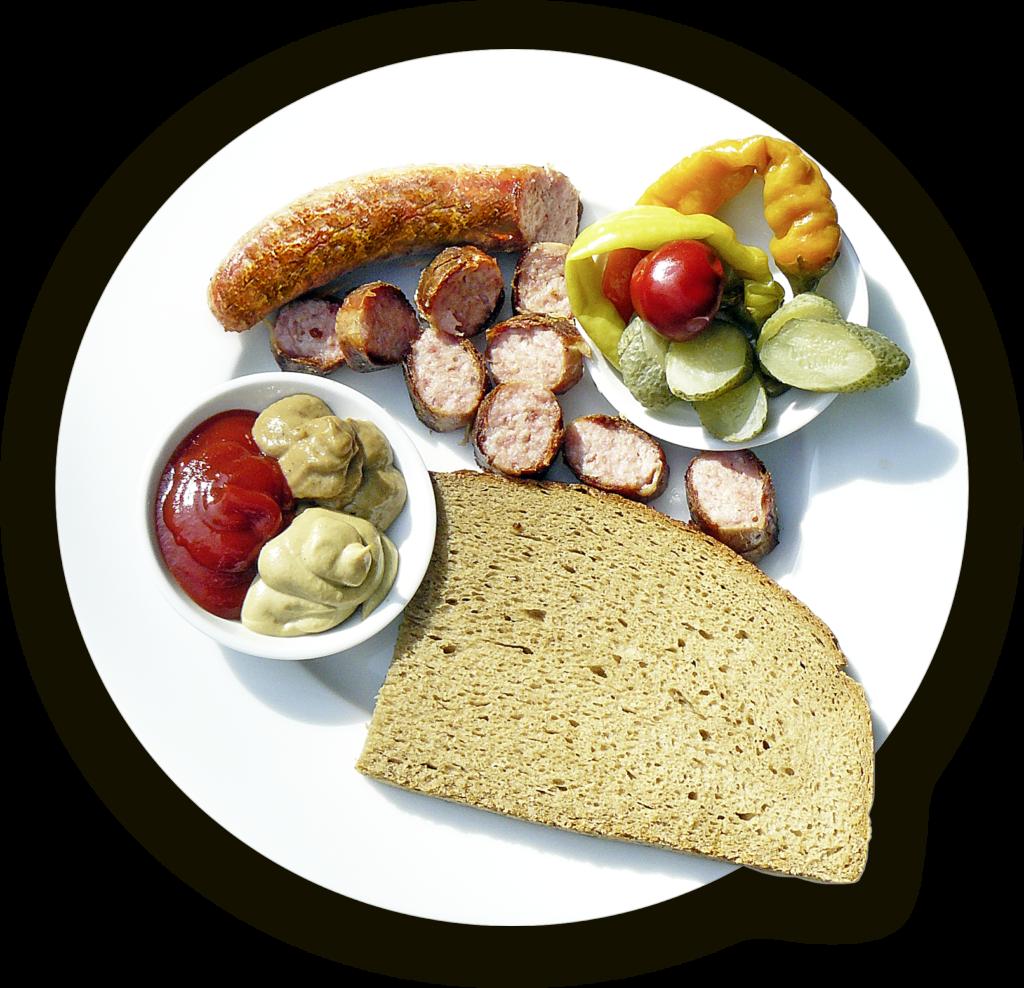 bratwurst und brot