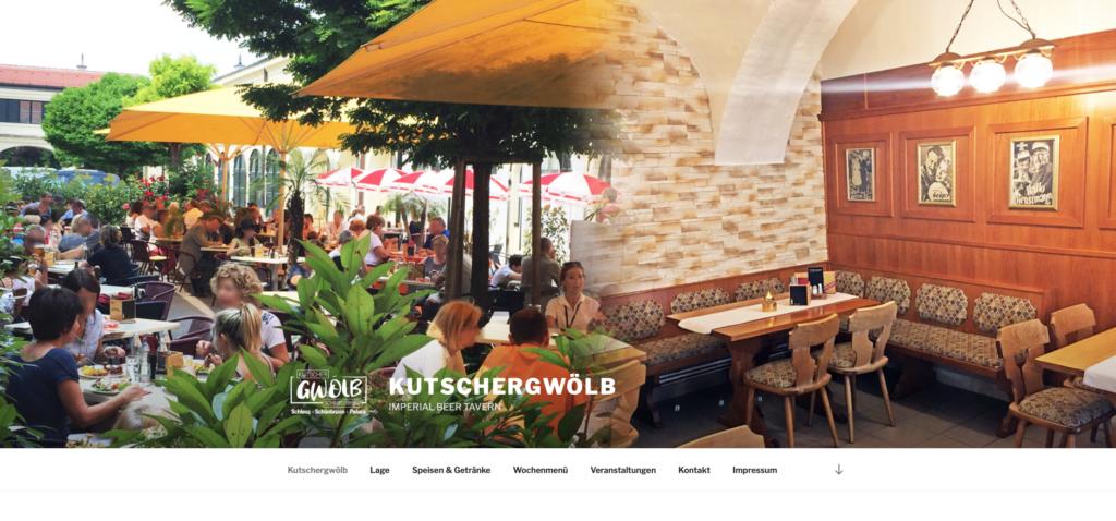screenshot webseite kutschergwoelb